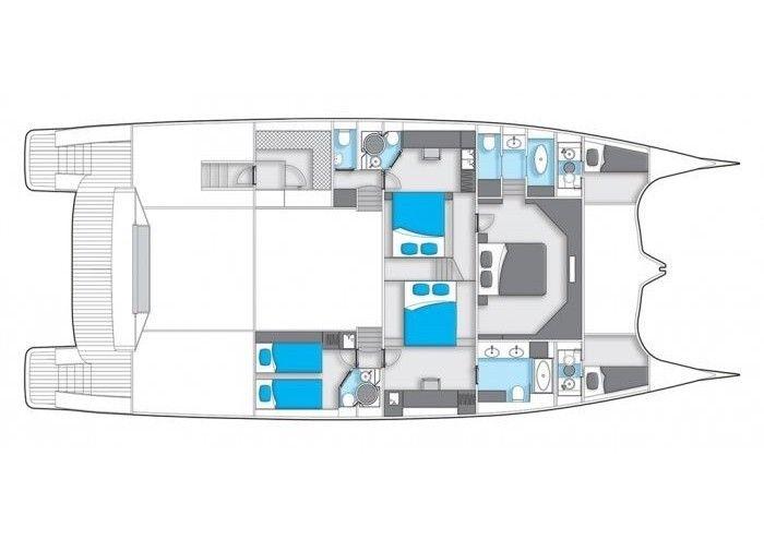 Sunreef Power 70 sailing Dalmatia