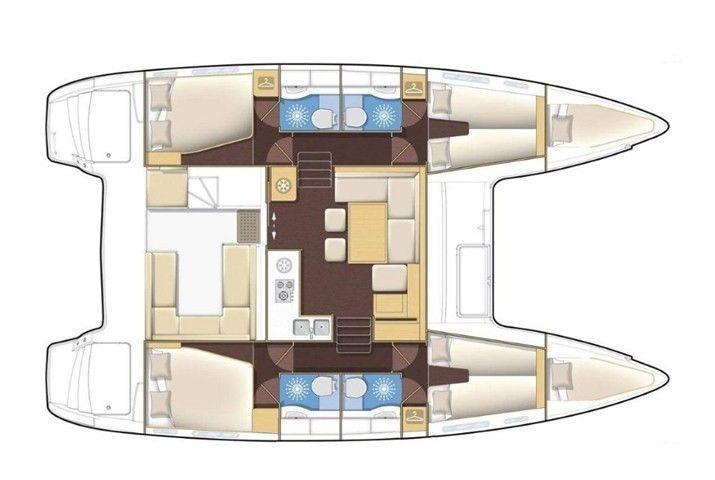 Lagoon 400 S2 layout