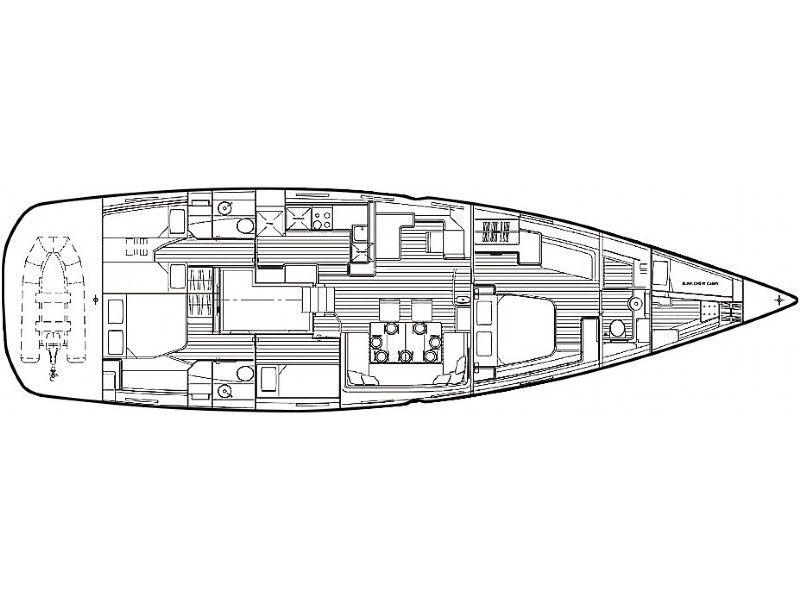 Jeanneau 64 sailing